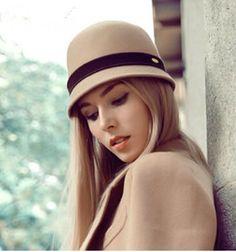 Women Ladies Vintage Wool Felt Wide Brim Bowler Cloche Hats Bucket Caps Fedora Top Hats Antumn Winter From Jessiebee, $21.67 | Dhgate.Com