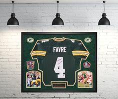 Brett Favre Green Bay Packers Autographed Jersey - Custom Framed Shadow Box  Favre Hologram. A 1b45d363a