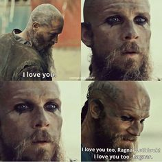 This is all Floki and I have wanted to hear for the last 3 seasons! #vikings #ragnarandfloki #ragnar #floki #bromance #feelthelove