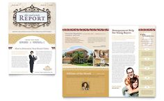 Real Estate Agent  Realtor Newsletter  Word  Publisher Template