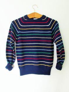 9ff9c3f4b Vintage 1960s Rainbow Stripe Sweater. Rainbow FashionStriped KnitVintage ...