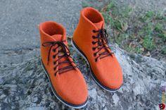 "Ботинки из войлока ""UltraОrange"" – купить в интернет-магазине на Ярмарке Мастеров с доставкой - 6NMJ1RU Felt Boots, Hiking Boots, Sneakers, Shoes, Fashion, Tennis, Moda, Slippers, Zapatos"