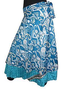 Womans Wrapskirt Printed Blue White Two Layer Sarong Long Silk Wrap Around Skirt Mogul Interior http://www.amazon.com/dp/B00PACP8F0/ref=cm_sw_r_pi_dp_UpNxub1DEJJVD
