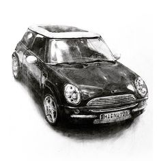 Pencil Shading, Pencil Art, Car Drawings, Pencil Drawings, Charcoal Sketch, Still Life Drawing, Object Drawing, Car Sketch, Urban Sketchers