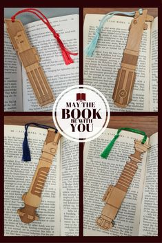 Star Wars Lightsaber Bookmark with Tassel - Laser Engraved Alder Wood - Light Saber Book Mark #affiliatelink #commissionlink