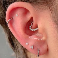 REVOLIA Stainless Steel Nose Ring Hoop Septum Piercing Cliker Ring Cartilage Stud Earrings Ball CZ Tragus Helix Piercing S – Fine Jewelry & Collectibles Cool Ear Piercings, Daith Piercing, Body Piercings, Piercing Tattoo, Tiny Stud Earrings, Cartilage Earrings, Circle Earrings, Ear Earrings, Silver Earrings