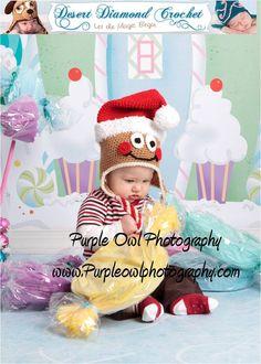 Crochet Pattern 037 - Santa Gingerbread Hat - All Sizes. $5.95, via Etsy.