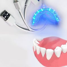Fancy Portable For Android IOS Dental Bleaching System Smart LED Teeth Whitening Device USB Ports Tooth