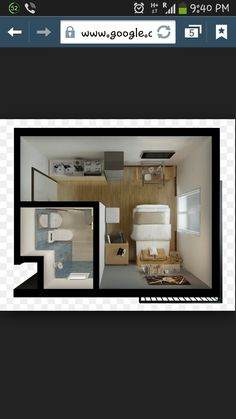 Multi functional bed with storage for condo studio type tiny house living Condo Interior Design, Condo Design, Studio Interior, House Design, Studio Type Apartment, Studio Apartment Decorating, Condo Decorating, Studio Type Condo Ideas Small Spaces, Small Condo