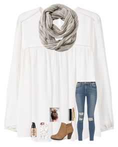 """""""It's super cold now. Anybody else confused about the weather?"""" by jenna-faith11 ❤ liked on Polyvore featuring MANGO, Frame, Pistil, Qupid, Chanel and Casetify"""
