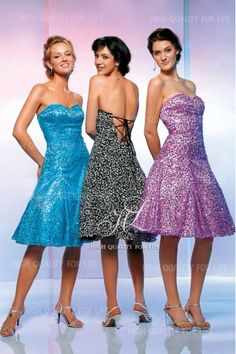 A-line White/Black,Lilac,Turquoise Sweetheart Knee-length Sequin lace Evening Dress pmp76  http://www.mydresspro.co.uk/182-prom-dress?p=2
