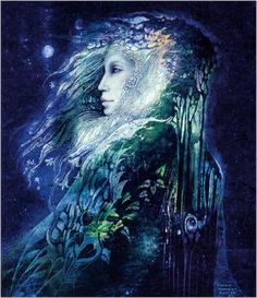 Flora, Roman Goddess of Flowers, painting by Susan Seddon Boulet, my focu today was on Flora as I prepped the garden for my spring bulbs