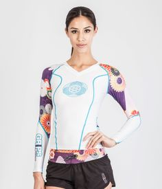 POWER FLOWER RASHGUARD