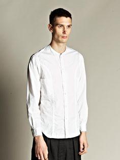 Yohji Yamamoto Pour Homme Men's Collarless Shirt | LN-CC
