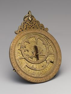 Astrolabe of cUmar ibn Yusuf al-Muzaffari, Rasulid period (1228–1454), dated A.H. 690/A.D. 1291 Yemen. Invented in ancient Greece, the astrolabe is a sophisticated tool for observing the position of the stars. In early Islam, when scientific studies flourished, astrolabes were vastly improved and came to be used to determine the correct times for Muslim prayers as well. Through Islamic Spain, the astrolabe was introduced to Europe.....