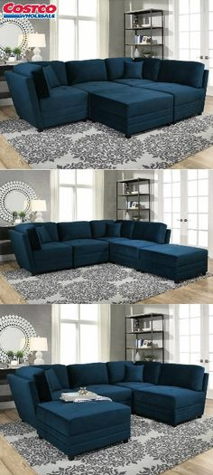 Costco Leyla 5 Piece Fabric Modular Sectional Ideas For The House Pinterest Sectional