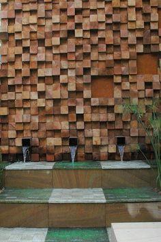 fontaine murale, un design magnifique, parement mural remarquable