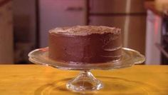 Mary Berry's Chocolate Celebration cake with white chocolate frosting