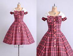 portrait perfect dress  vintage 1950s dress  50s by PickledVintage, $342.00
