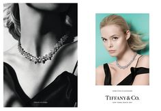The young Hollywood darling looks glamorous in the Tiffany Victoria diamond cluster necklace.