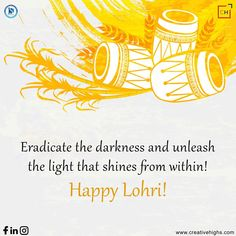 This Lohri, eradicate the darkness and unleash the light that shines from within! Wishing you all a very happy Lohri! Lohri Wishes, Happy Lohri, Indian Festivals, Advertising Agency, Darkness, Digital Marketing, Dark
