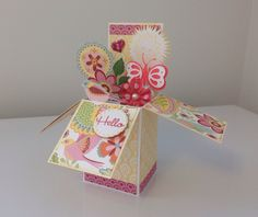 Card in a box. CTMH Chantilly paper.