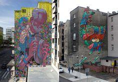 Street Art #graffiti (by Aryz)