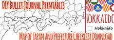 Bullet Journal Printable: Map of Japan and Prefecture Checklist – Sam in Japan ..... #freeprintable #bulletjournal #bujo #travel #travelblogger #japanese #mapofjapan #japan #printable