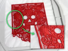 How to successfully embroider free standing lace. I assume this would work for patches too.