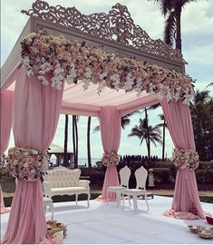 We are simply stunned by these incredible wedding decorations 💗 Double tap if this could be your dream wedding decor … ⠀ Decor by Event planner Source Wedding Goals, Wedding Themes, Wedding Colors, Wedding Designs, Wedding Flowers, Wedding Stage Design, Perfect Wedding, Dream Wedding, Wedding Day