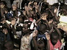 Haiti Children Cazeau area P-au-P -this was at open air crusade - that planted the church