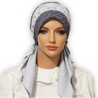 Cotton Navy White Stripes Pretied Tichel 02 Head Coverings, Womens Scarves, Navy And White, Winter Hats, Stripes, Fabric, Cotton, Dresses, Style