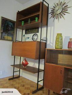 Miniature Mid Century Modern Wood Wall Unit by TallGlassOfWater ...