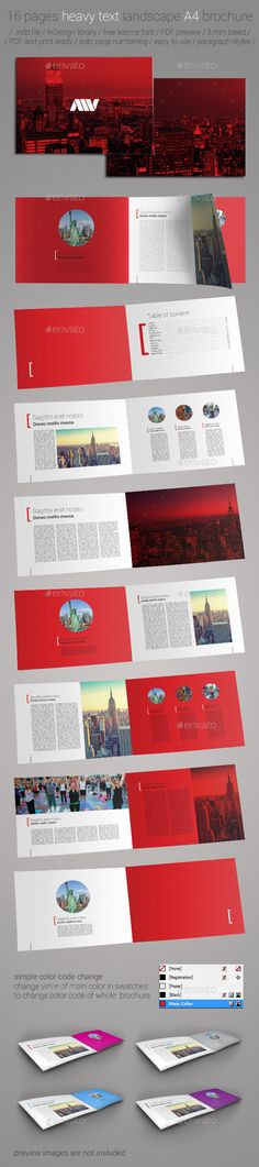 A Corporate Landscape Brochure Booklet V  Brochures