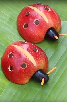 food art for kids crafts Kreative Lebensmittelkuns - Food Art For Kids, Fun Snacks For Kids, Healthy Meals For Kids, Kids Meals, Food Kids, Toddler Meals, Cute Food, Good Food, Fruit Animals