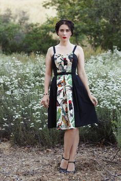 Trashy Diva The Getaway Dress in Birds of a Feather Print Southern California Belle