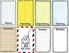 Journalling Resources | Weekly Free Printable Planner Weekly Mini Book
