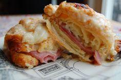 croque monsieur on a croissant