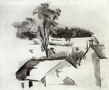 A landscape sketch in ink, Paul Cezanne, (1888-90) Seriously, I am absolutely in love with everything this man was about. Really inspired by the greys and use of line