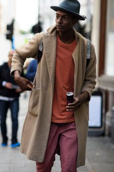 Fall color combination for men fw17 orange burgundy sand