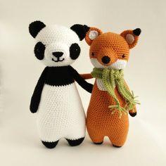 Ganchillo amigurumis patrón Panda por LittleBearCrochets en Etsy