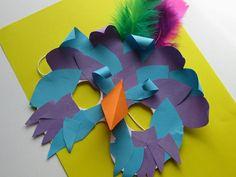 Bird Mask Tutorial -- craft for Brazilian carnaval