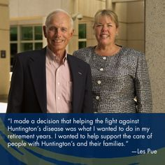 Les Pue knows all too well the devastating impacts Huntington's disease can have on families.