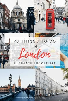 73 amazing things to do in London: the ultimate London Bucketlist!