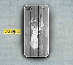 Vintage Deer Silhouette on wood Phone Cases for iPhone 4/4s and iPhone 5 and Samsung Galaxy S3 on Etsy, $13.00