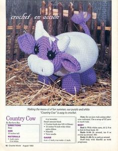 Crochet En Acción: Vaquita Country