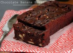 Chocolate Banana Bread with Marshmallow Bits   Like a brownie you can justify eating for breakfast :).