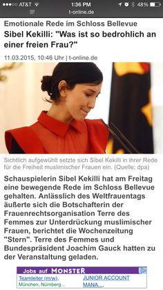 Sibel kekilli speaks before President Gauck for International Women's Day against honour killings and violence against women at Schloss Bellevue, BerlinPhotocredits in the photo captions