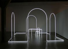 Neon Light Installations by Massimo Uberti | http://www.yellowtrace.com.au/2013/11/20/massimo-uberti-neon-light-installations/