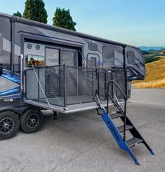 Fuzion 420 Toy hauler Fifth Wheel by Keystone RV, A Dual Patio Floorplan Aimed To Impress. What does General RV love about the Fuzion 420 . Find Out Why General RV Center Loves The New Fuzion Toy Hauler Trailers, Toy Hauler Camper, Toy Hauler Travel Trailer, Camper Trailers, Travel Trailers, Rv Campers, Camper Hacks, 5th Wheel Camper, Fifth Wheel Campers